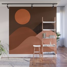Abstraction_Mountains_SUN_MNIMALISM Wall Mural