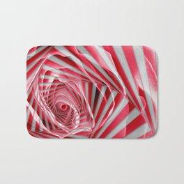 Pink Rose Spiral Bath Mat
