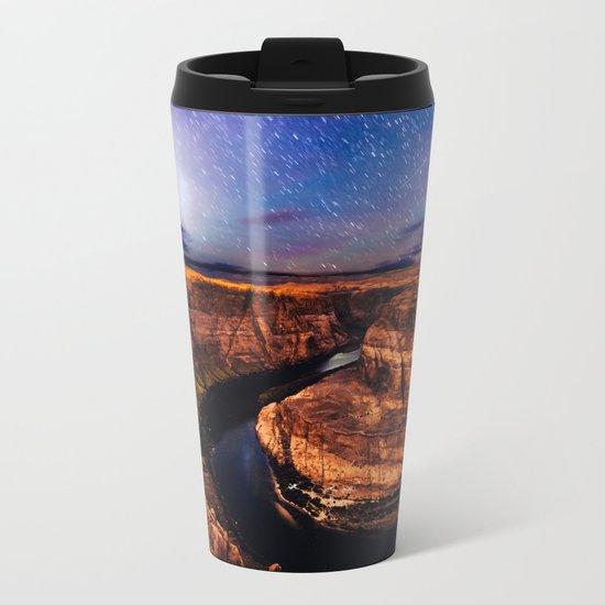 Horseshoe Bend Starseeds - Starry Sky Night at Grand Canyon Arizona Metal Travel Mug