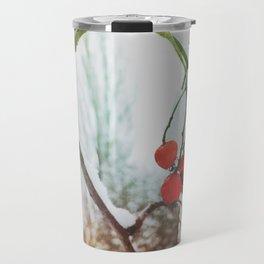 in winter Travel Mug