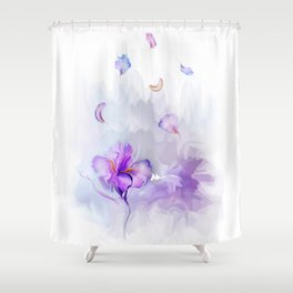 Iris's flowe Shower Curtain