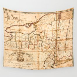 Map of New York (1808) Wall Tapestry