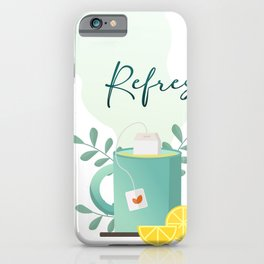 Refreshing Tea iPhone Case