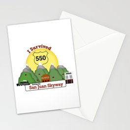 I Survived Hwy 550 Durango, Silverton & Ouray Colorado Stationery Cards