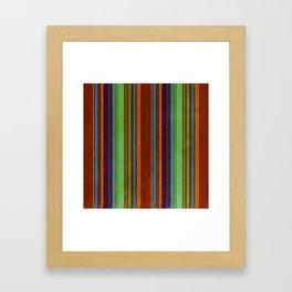 Primitive Grunge Stripe Framed Art Print