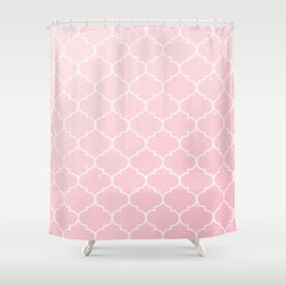 Pink Lattice Pattern Shower Curtain
