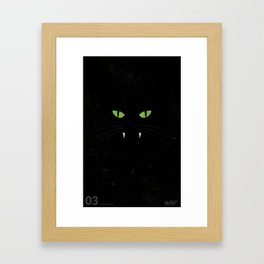 """Black Cat"" Halloween Poster Framed Art Print"