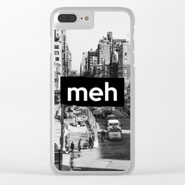 City Life... meh B&W Clear iPhone Case