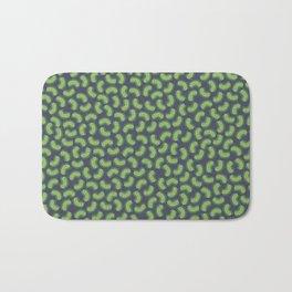 Green Bacteria Pattern Bath Mat