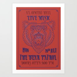 Concert Poster Art Print