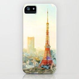 Tokyo tower, landmark of Japan iPhone Case