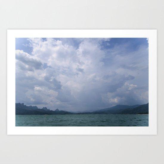 The cloud explosion Art Print