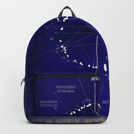 Druids Circle, Castlerigg, Keswick, Cumbria blueprint Backpack