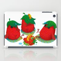 strawberry iPad Cases featuring Strawberry by DanBee Kim
