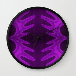 deep purple lily Wall Clock