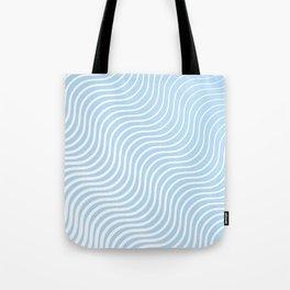 Whisker Pattern - Light Blue & White #285 Tote Bag