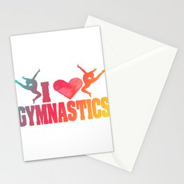 This I Love Gymnastics Design Works As A Great Gift For Gymnasts T-shirt Athletic Flip Tumbling Rio Stationery Cards