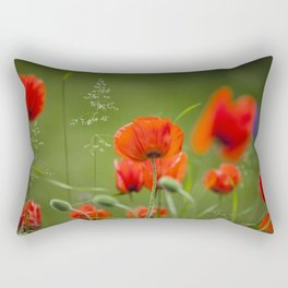 Peony Fire Rectangular Pillow