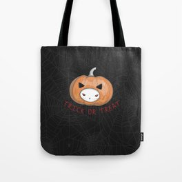 Halloween Pumpkin Head Cat Tote Bag