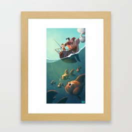 la pêche aux télescopes Framed Art Print