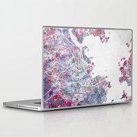 rio de janeiro Laptop & iPad Skins featuring Rio de Janeiro map by MapMapMaps.Watercolors