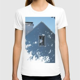 Tree shadow on a house facade T-shirt