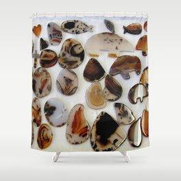 Montana Agate shapes Shower Curtain