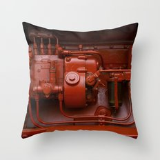 Red Tractor motor Throw Pillow