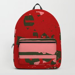 Spring Forward Red Leaf Spatter Backpack