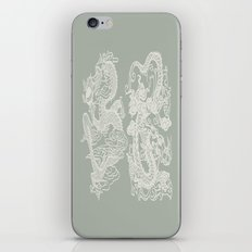 Gray Grey Dragon iPhone Skin