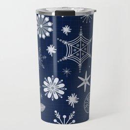 Mod Snowflakes Travel Mug