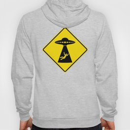 Alien Abduction Safety Warning Sign Hoody