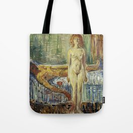 The Death of Marat II by Edvard Munch Tote Bag