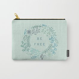 BE FREE - light blue Carry-All Pouch