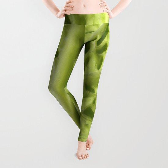 green savoy cabbage II Leggings