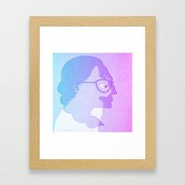 The cat inside - bicolor Framed Art Print