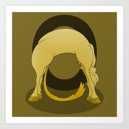 Pony Monogram Letter O Art Print