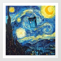 starry night Art Prints featuring STARRY by MiliarderBrown