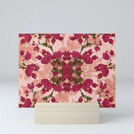 Retro Vintage Floral Motif Mini Art Print