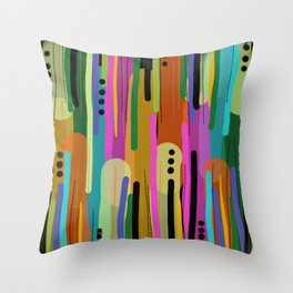 Forest of  Colors Throw Pillow