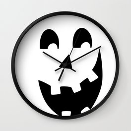 Crazy Jack O'Lantern Face Wall Clock