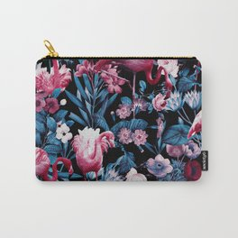 Floral and Flamingo VIII Carry-All Pouch