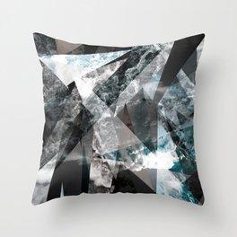 Crystal sky Throw Pillow