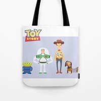 toy story Tote Bags featuring Toy Story by YoongSin
