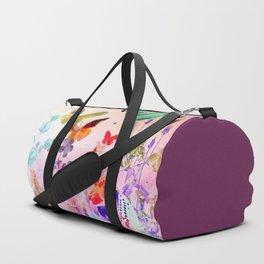 Blush Butterflies & Flowers Duffle Bag