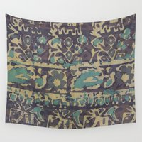 batik Wall Tapestries featuring Elephant Batik by Chariklia Zarris