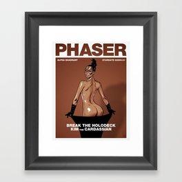 Phaser Magazine Cover Framed Art Print