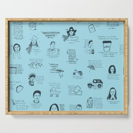 Gilmore Girls Quotes in Blue Serving Tray