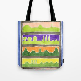 Atmospheric Landscape Silhouettes Tote Bag