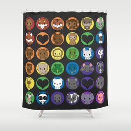 Collective Nouns 02 Shower Curtain